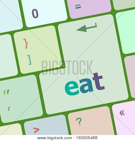 Eat Button On Computer Pc Keyboard Key