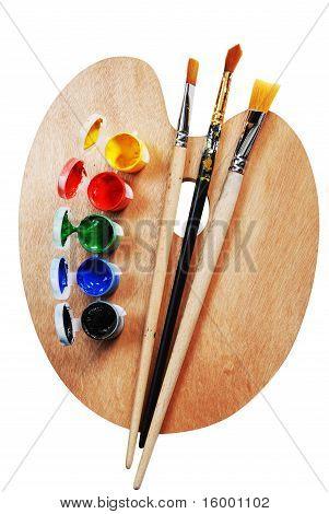 Artist's Wooden  Palette