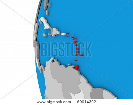 Caribbean On Globe