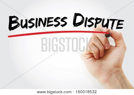 Hand Writing Business Dispute With Marker