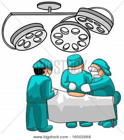surgeons in operative room
