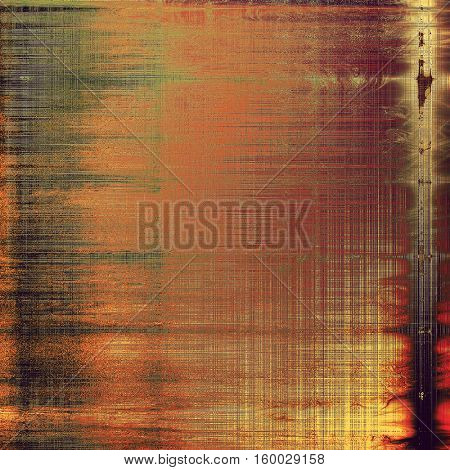 Retro texture used as abstract grunge background. Shabby backdrop with different color patterns: yellow (beige); brown; gray; red (orange); purple (violet); pink