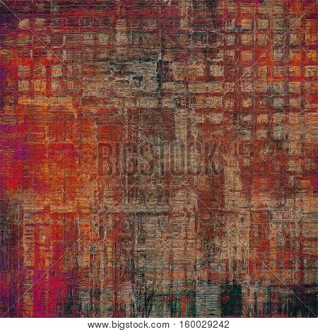 Art grunge texture for creative design or scrap-book. With vintage style decor and different color patterns: yellow (beige); brown; gray; red (orange); purple (violet); pink