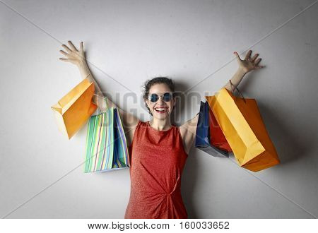 After shopping, I'm always happy