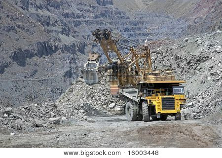 Loading Ore Into The Truck