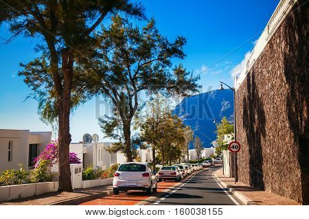 Small Cozy Street In Los Gigantes Residential Area