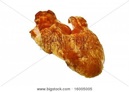 chicken wings isolated over white background