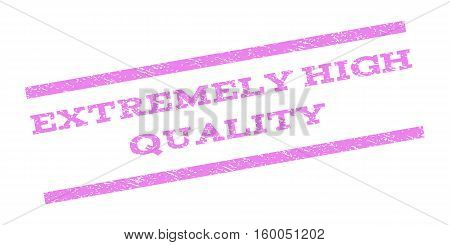 Extremely High Quality watermark stamp. Text caption between parallel lines with grunge design style. Rubber seal stamp with dust texture. Vector violet color ink imprint on a white background.