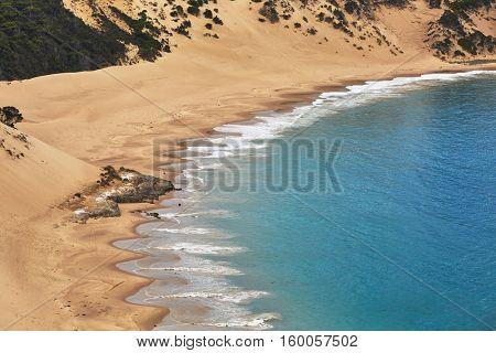 Sandy beach of Crescent Bay, Tasmania