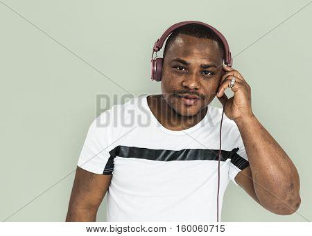 African Descent Man Studio Concept