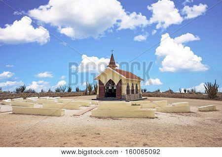 Alto Vista Chapel on Aruba island in the Caribbean