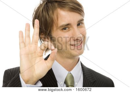 Businessman Gestures Ok