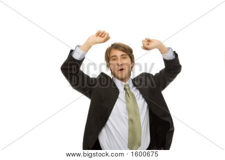 Businessman Gestures Success