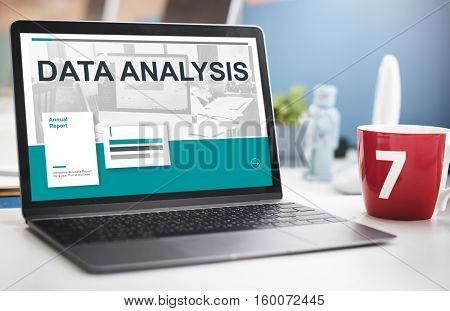 Results Statistic Research Data Analysis Concept