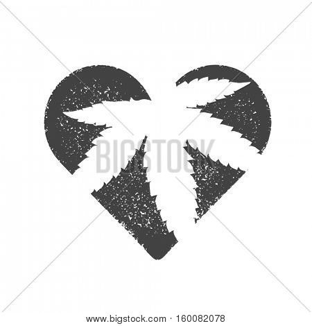 Heart symbol with cannabis leaf inside. Marijuana illustration