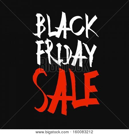 Black Friday Sale Typography. Black Background
