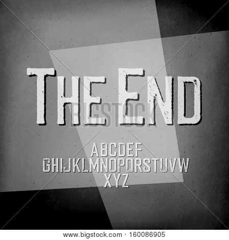 End Credits. Film noir styled abstract screen.