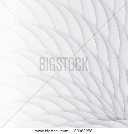 White scales. Abstract geometric background