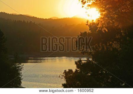 Lake Gregory Sunset