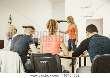 Students In Classroom Learning English