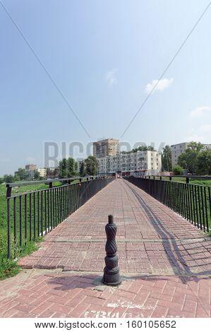 Nizhny Novgorod, Russia. - July 28.2016. Footbridge from the street Zalomova to the waterfront Fedorovsky