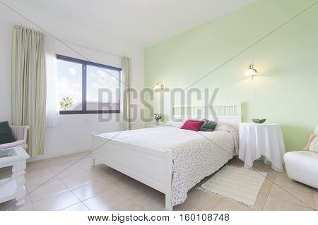 Double Bed Bedroom - Beautiful Apartment Room