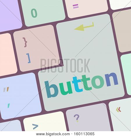 button word on computer keyboard key button