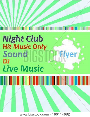 Vertical Music Party Background With Colorful Graphic Elements And Text. Party Dance Concept.