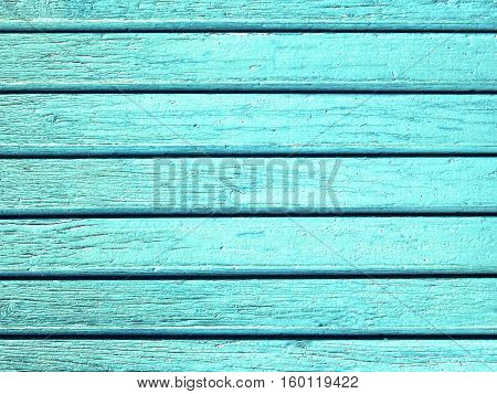 Turquoise wooden planks texture background, natural plank