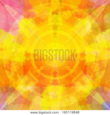Burst of energy in flames bright background