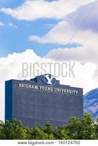Lavell Edwards Stadium On Campus Of Brigham Young University