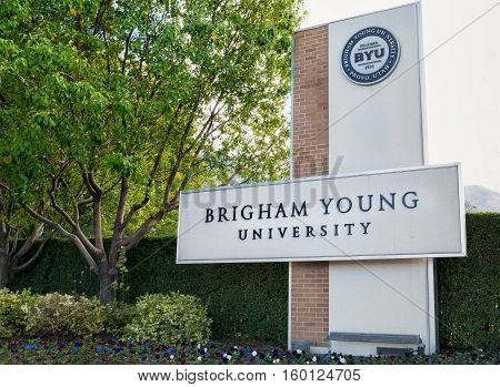 Entrance To Campus Of Brigham Young University.