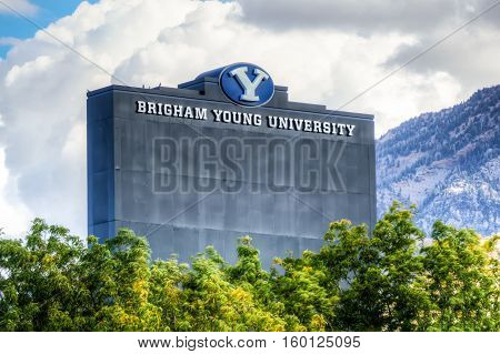 Lavell Edwards Stadium On Campus Of Brigham Young University.