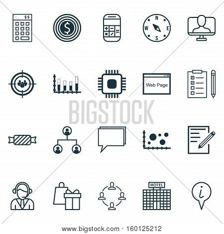 Set Of 20 Universal Editable Icons. Can Be Used For Web, Mobile And App Design. Includes Elements Such As Shopping, Business Goal, Locate And More.