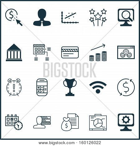 Set Of 20 Universal Editable Icons. Can Be Used For Web, Mobile And App Design. Includes Elements Such As Schedule, Website Performance, Festive Fireworks And More.