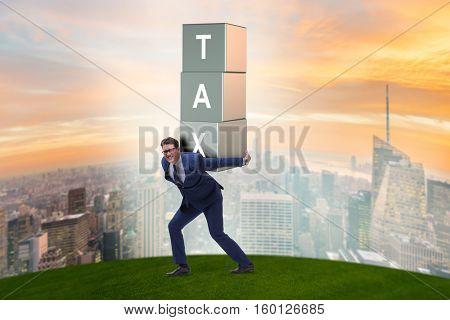 Businessman under heavy tax burden