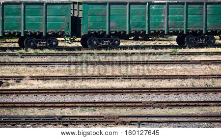 industrial railroad and infrastructure, cargo transportation, delivery and shipping concept