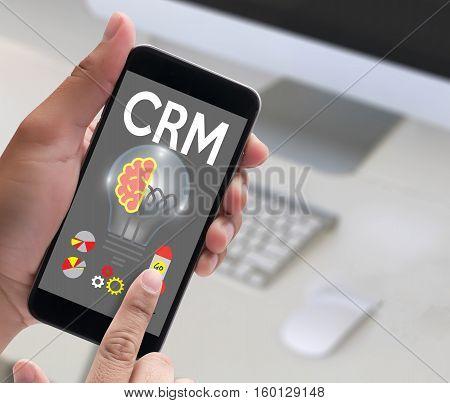 Crm  Business Customer Crm Management Analysis Service Concept , Customer Relationship Management Cr