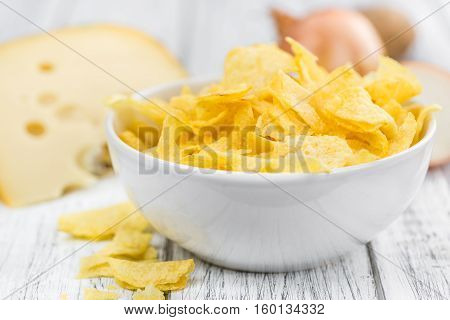 Fresh Made Cheese And Onion Potato Chips