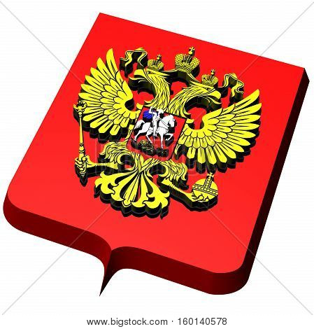 Coat Of Arms Of Russia. 3D Illustration.