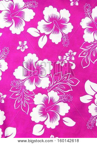The flowers fabric pattern on background texture
