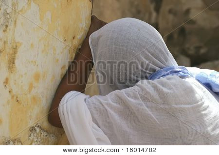 JERUSALEM - APRIL 21: parishioner of the Coptic Church are awaiting the commencement ceremony in his aisle on Good Friday April 21, 2006 in Jerusalem, Israel.
