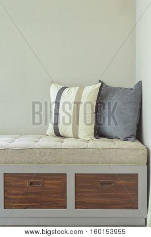 Comfy Seat With Storage Next To Window