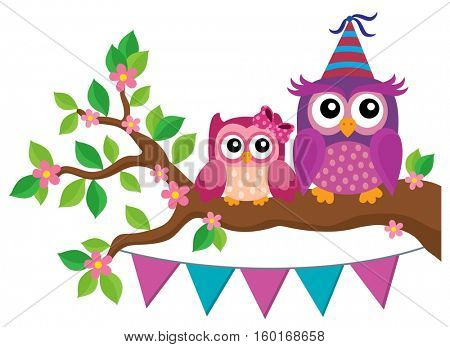 Party owls theme image 2 - eps10 vector illustration.