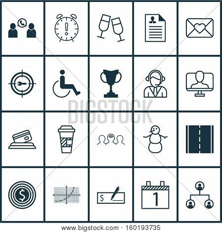 Set Of 20 Universal Editable Icons. Can Be Used For Web, Mobile And App Design. Includes Elements Such As Phone Conference, Accessibility, Operator And More.