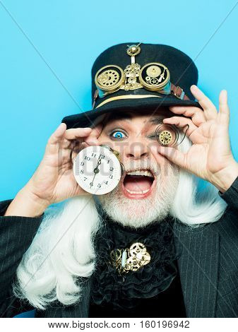 Surprised Ing Bearded Man Or Watchmaker