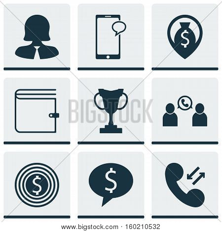 Set Of 9 Hr Icons. Can Be Used For Web, Mobile, UI And Infographic Design. Includes Elements Such As Opinion, Cup, Conference And More.