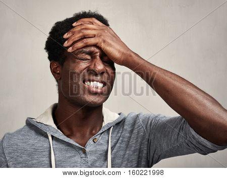 Depression black man