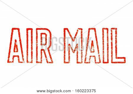 Air Mail Stamp Isolated