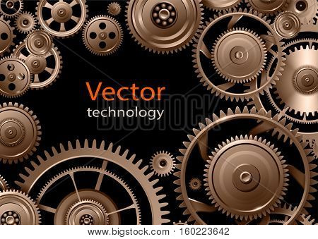 Gears background, teamwork and precision concept vector design